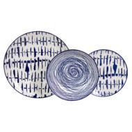 Perseidi porcelán étkészlet 18 részes Kék-Fehér