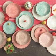 PEPPER BAMBOO METROPOL porcelán étkészlet 18 részes