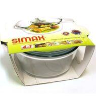 SIMAX hőálló mély kerek tál 2,8l +0,5l