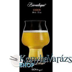Birrateque Cider sörös pohár 50 cl. 6 darab