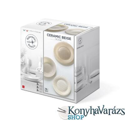 Ceramic Beige 18 részes üveg étkészlet-BORMIOLI