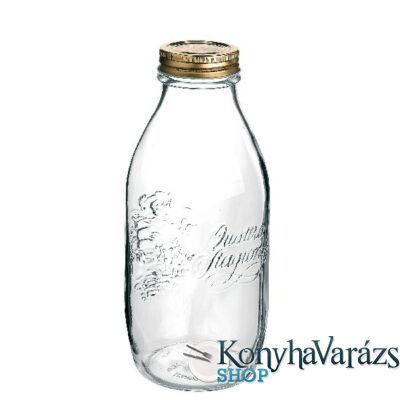 QUATTRO TOMATO tároló üveg+tető 1 l