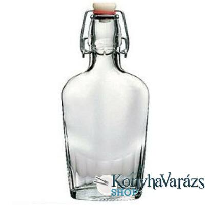 Lapos csatos üveg 0,25 L 19 cm