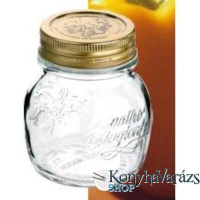 QUATTRO tároló üveg+tető 0,15 l