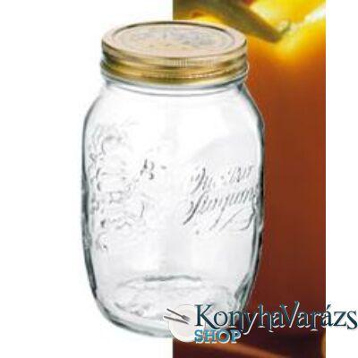 QUATTRO tároló üveg+tető 0,5 l