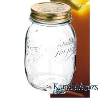 QUATTRO tároló üveg+tető 1,0 l