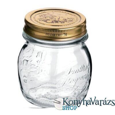 QUATTRO tároló üveg+tető 0,25 l