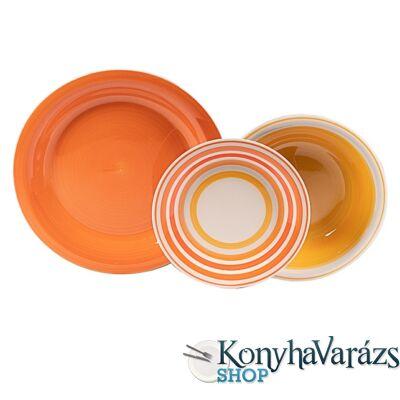 Kyklos kerámia étkészlet 18 részes Arancio