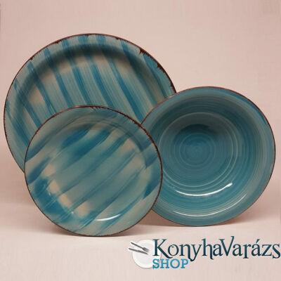 KEPOS kerámia étkészlet 18 részes Azzurro