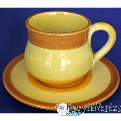 GAIA cserép teás csésze+alj 30 cl