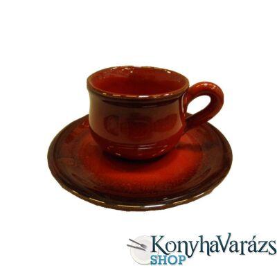 HELIOS cserép csésze teás +alj 26cl
