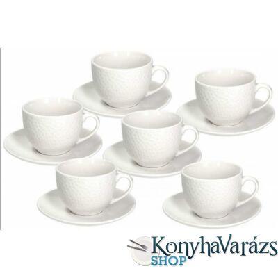 GOLF porcelán mokkás csésze + alj 9 cl. 6 darab
