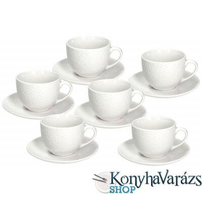 GOLF porcelán kávés csésze + alj 21 cl. 6 darab
