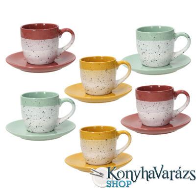 LAYERS kerámia teás készlet 6 darab-20cl.