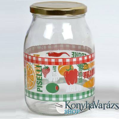 ITALIA befőttesüveg+tető 1l