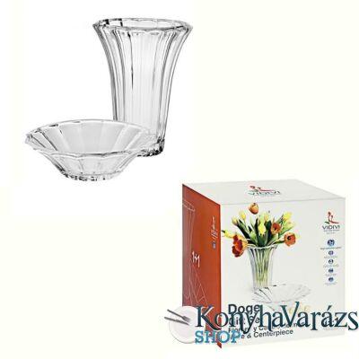 DOGE üveg set.(váza és tál)