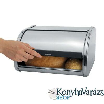 Fém kenyérdoboz 1 kg ROLL TOP MATT STEEL