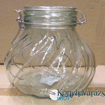 SVE-ZÖLD csatos öblös üveg 1,8l /csavart