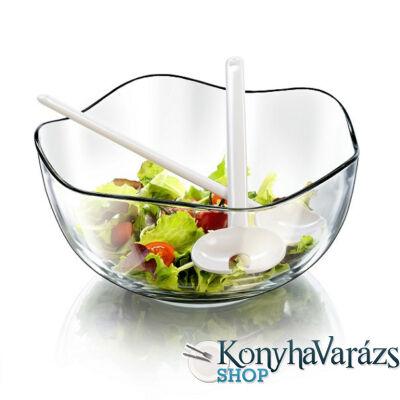 ONDA salátás tál 26 cm + műanyag salátáskanál és villa