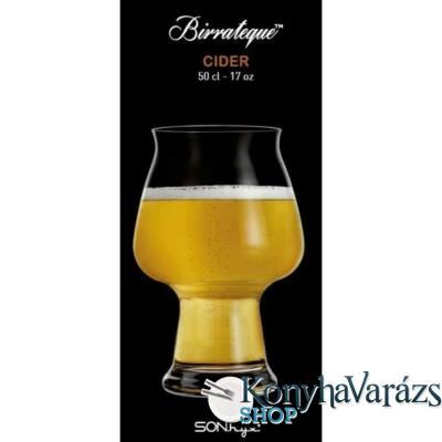 Birrateque Cider sörös pohár 50 cl. 6 darab-Luigi Bormioli