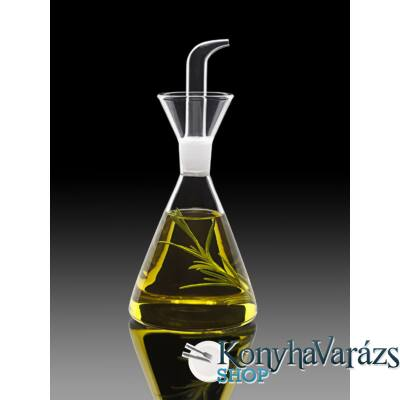 THERMIC GLASS.olajtartó kúp alakú