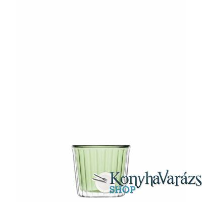 THERMIC GLASS. cup cake 2db 24cl GREEN