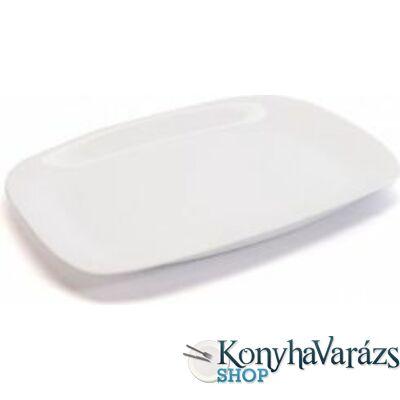 PARMA fehér sültes tál 24x34 cm.BORMIOLI