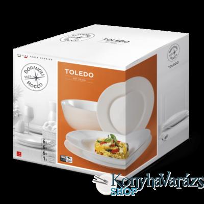 Toledo üvegétkészlet 19 r. /fehér/ BORMIOLI