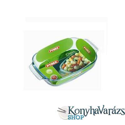 PYREX ESSEN szögl. sütőtál+fedő 6,5l (4,3l+3,2l)