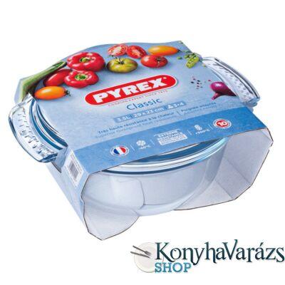 PYREX kerek sütőtál+fedő 3,5 L (2,5l+1l) /csom./