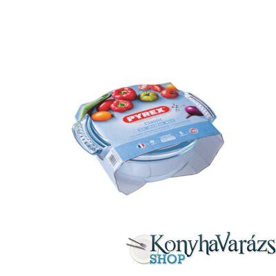 PYREX kerek sütőtál+fedő 2,1 L (1,5l+0,6l) /csom/