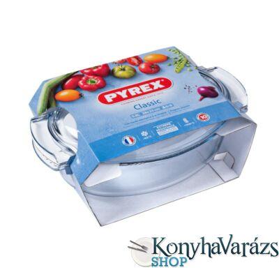 PYREX ovál csirke, kacsasütő+fedő 5,8 L (4,4l+1,4l)
