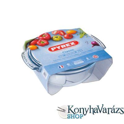 PYREX kerek sütőtál+fedő 4,9 L (3,5l+1,4l) /csom./
