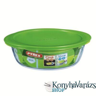 COOK&STORE kerek sütőtál+műa.tető 26cm 2,3 l