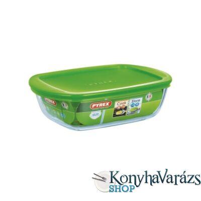 COOK&STORE tégl.sütőtál+műa.tető 23x15x6,5cm 1,1l