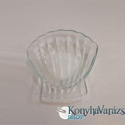 PYREX üveg kagyló tálka 13x13cm LOSE