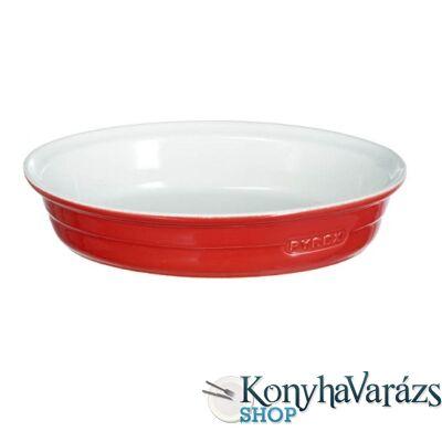 PYREX kerámia ovál sütőtál 34x23cm PIROS