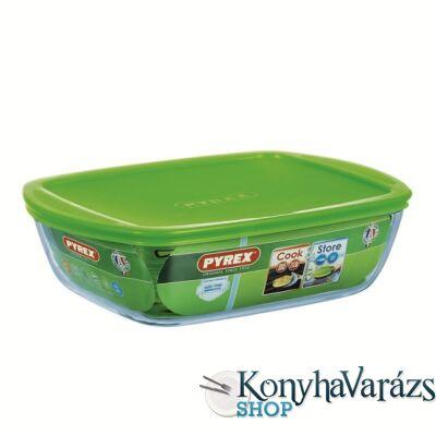 COOK&STORE tégl.sütőtál+műa.tető 28x20x8cm 2,5l