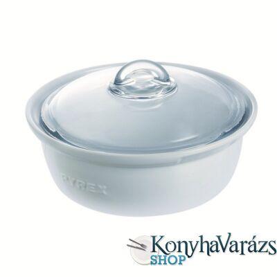 PYREX kerámia kerek sütőtál+ü.fedő 2,5l IMPRESS