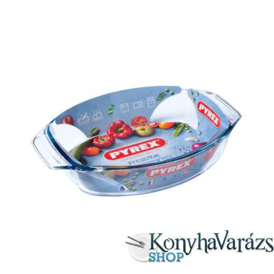 PYREX IRRES ovál sütőtál füles 35x24x6cm 3l