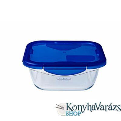 Cook&Go tégl.sütőtál üvegdoboz műanyag fedővel 30x23x9 cm