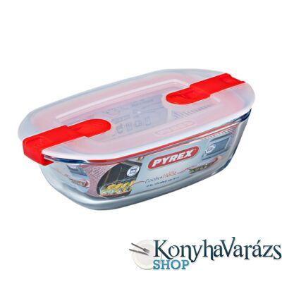 COOK&HEAT tégl. sütőtál+műa.tető 17x10x5 cm 0,4l