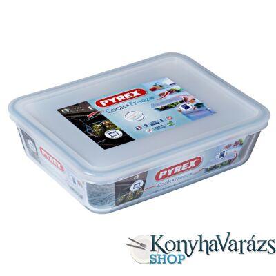 COOK&FREEZE tégl. sütőtál+műa.tető 22x17x6 cm 1,5l