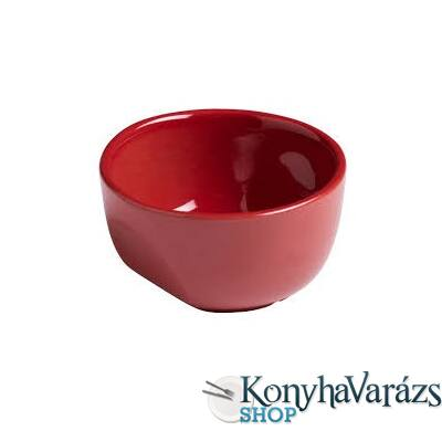 PYREX kerámia souffle tálka 9cm CURVES RED