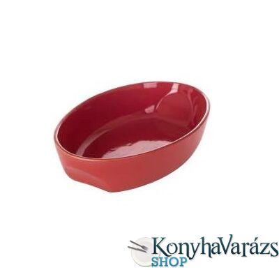 PYREX kerámia ovál sütőtál 33x21cm CURVES RED