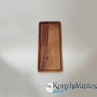 Fa asztali kínáló szögletes 35x16x2 cm.
