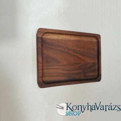 Fa asztali kínáló szögletes 20x26x2 cm.