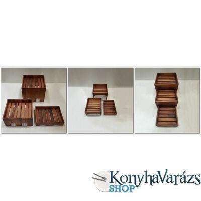 Fa rekesz 3 részes 28x28x22-25x28x14-21,5x28x6 cm