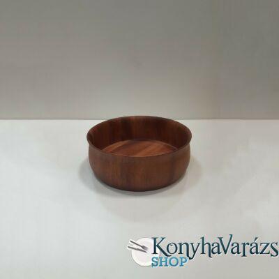 Fa asztali kínáló tál kerek 25x9 cm.