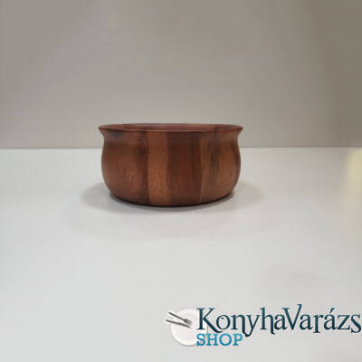 Fa asztali kínáló tál kerek 15x7 cm.
